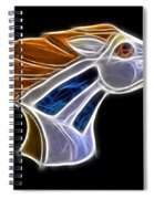 Glowing Bronco Spiral Notebook