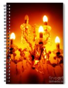Glowing Chandelier Spiral Notebook
