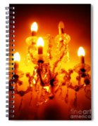 Glowing Chandelier--companion Piece Spiral Notebook