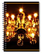 Glowing Chandelier With Border Spiral Notebook
