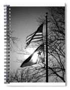 Glowing Flags Spiral Notebook