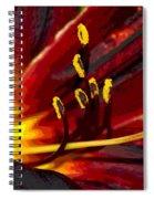 Glowing Flower Power Spiral Notebook