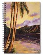 Glowing Kualoa Diptych 1 Of 2 Spiral Notebook