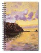 Glowing Kualoa Diptych 2 Of 2 Spiral Notebook