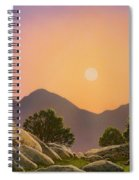 Glowing Landscape Spiral Notebook