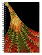 Glowing Leaf Of Autumn Abstract Spiral Notebook