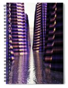 Glowing Lights Of An Electric Canyon Spiral Notebook