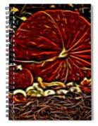 Glowing Pumpkins Spiral Notebook