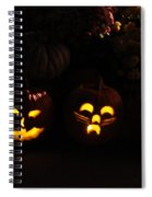 Glowing Pumpkins Spiral Notebook
