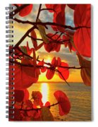 Glowing Red Spiral Notebook