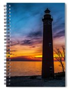 Glowing Sky At Little Sable Spiral Notebook