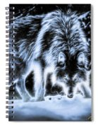 Glowing Wolf In The Gloom Spiral Notebook