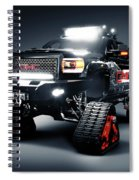 Gmc Pickup Truck On Snow Tracks Spiral Notebook