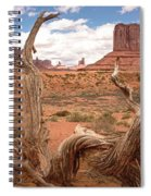 Gnarled Tree At Monument Valley  Spiral Notebook