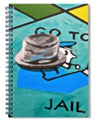Go To Jail  Spiral Notebook