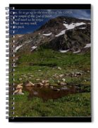 Go Up To The Mountain Of The Lord Spiral Notebook