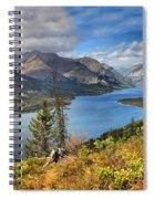 Goat Haunt Panorama Spiral Notebook