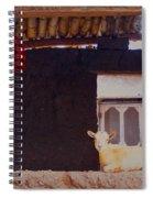 Goat In Window Spiral Notebook