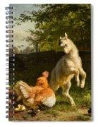 Goat Kid And A Hen Spiral Notebook