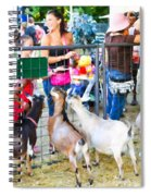 Goats At County Fair Spiral Notebook