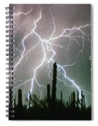 God Bless America Color Lightning Storm In The Usa Desert Spiral Notebook