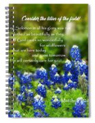 God Cares For You Squared Spiral Notebook