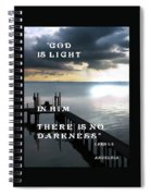 God Is Light Spiral Notebook