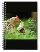 God Is Never At A Loss Spiral Notebook