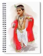God Krishna Style Watercolor Spiral Notebook