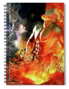 God Of Fire Spiral Notebook