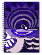 God Smiling On The Water Spiral Notebook