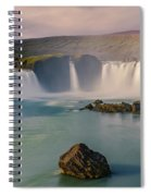 Godafoss In Iceland Spiral Notebook