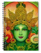 Goddess Green Tara's Face Spiral Notebook