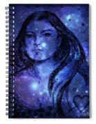 Goddess In Blue Spiral Notebook