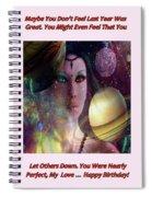 Goddess Of Planets Spiral Notebook