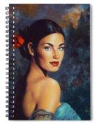 Goddess Of The Summer Rose Spiral Notebook