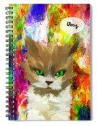 Goddess Santia As A Cat 687 Spiral Notebook