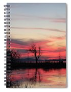 God's Hand On The Lake Spiral Notebook