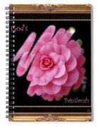 God's Paintbrush With Gold Frame Spiral Notebook