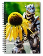 Godzilla With A Yellow Flower Spiral Notebook