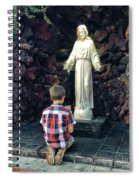 Going Before The Sacred Heart Of Jesus Spiral Notebook