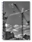 Going Up Midtown Atlanta Construction Art Spiral Notebook