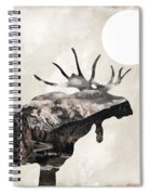 Going Wild Moose Spiral Notebook