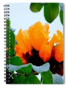 Gold African Tulips Spiral Notebook