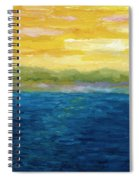 Gold And Pink Sunset  Spiral Notebook