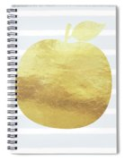 Gold Apple- Art By Linda Woods Spiral Notebook