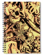 Gold Aquarium Spiral Notebook