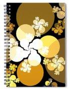 Gold Brown Spheres Spiral Notebook