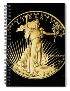 Gold Coin Front Spiral Notebook