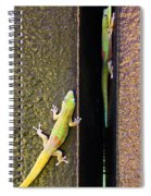 Gold Dusted Day Gecko Spiral Notebook
